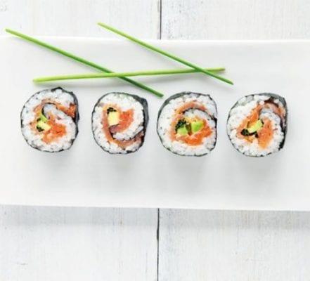 Salmon sushi recipe
