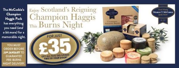 Haggis offer for Burn's night