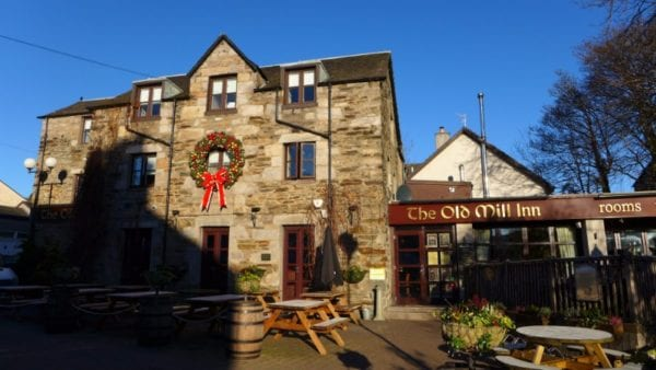Old Mill Inn, Pitlochry - View from outside