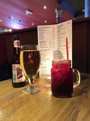 bucks bar glasgow chicken beer and buck cherry cocktail