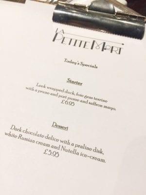 La petite mort restaurant Edinburgh