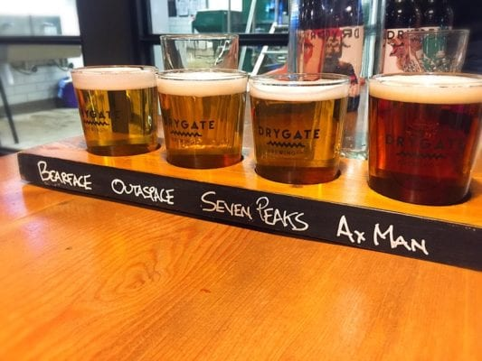 Drygate cask beer Doubletree by Hilton glasgow central