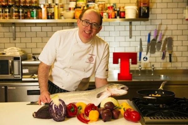 John Quigley Tennents training academy cooking class