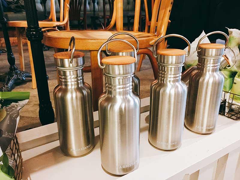 Farmstand London - re-useable water jugs