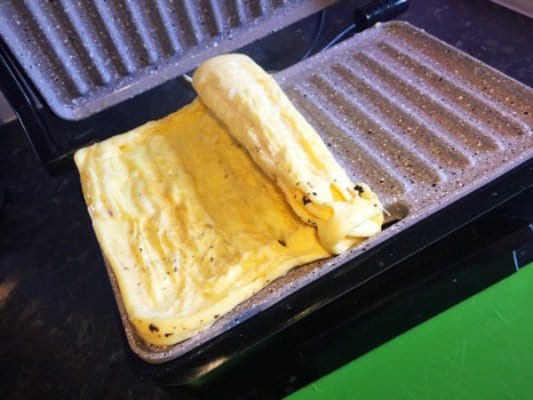 panini grill omelette