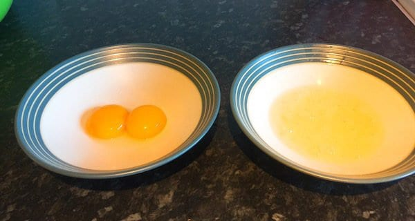 glasgow food blog Cloud Egg Recipe Instructions Step 3