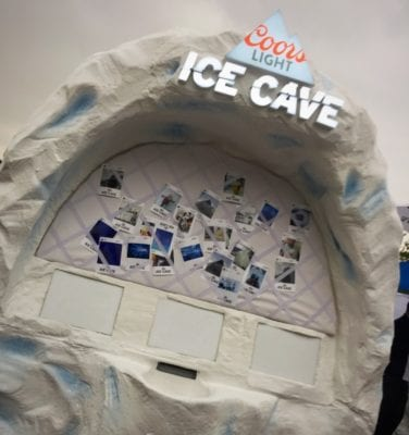 Coors light ice cave rave glasgow riverside festival