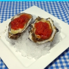 Recipe:  Bloody Mary Granita Oysters