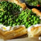 Spring pea, thyme & lemon ricotta tart recipe