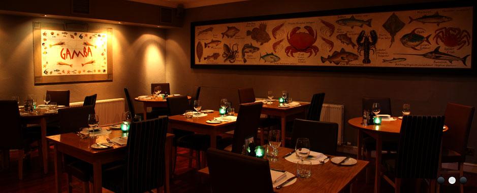 Gamba fish Glasgow restaurant