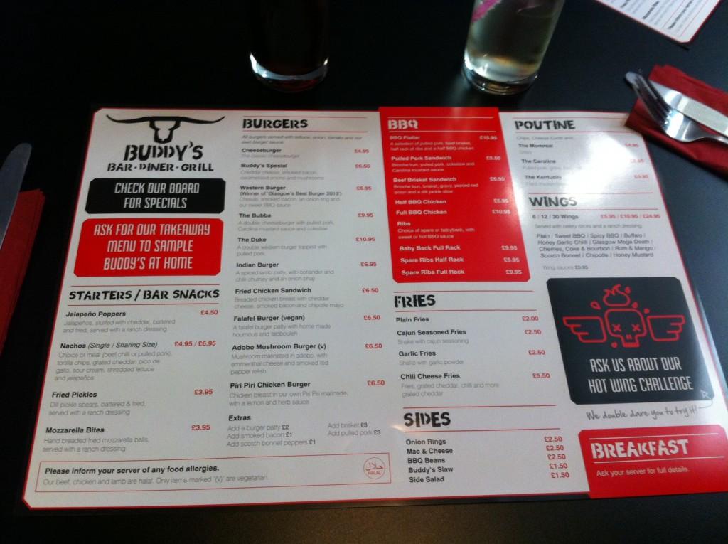 Buddy's BBQ & Burgers, Pollokshaws Rd, Glasgow