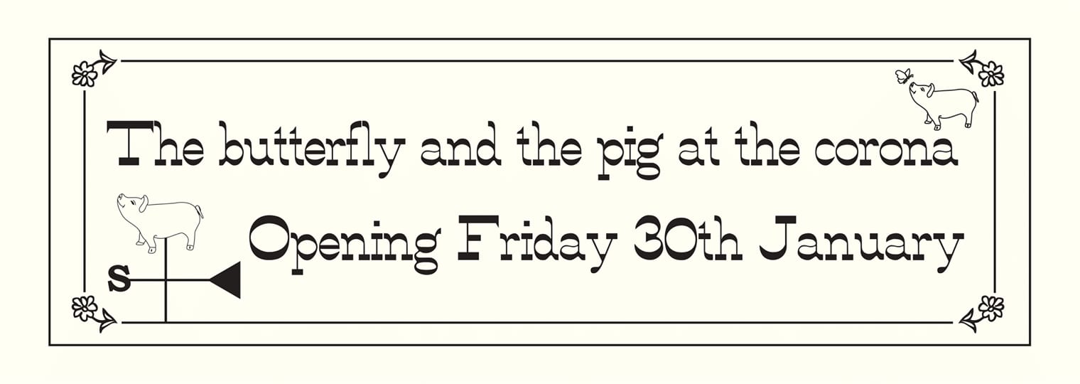 Preview: The butterfly and the pig South, 1039 Pollokshaws Road, Shawlands, Glasgow