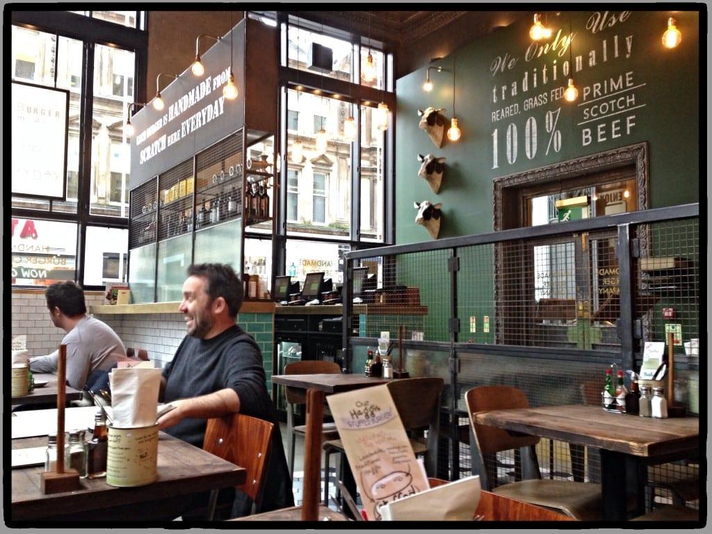 Handmade burger co Glasgow st Vincent street review