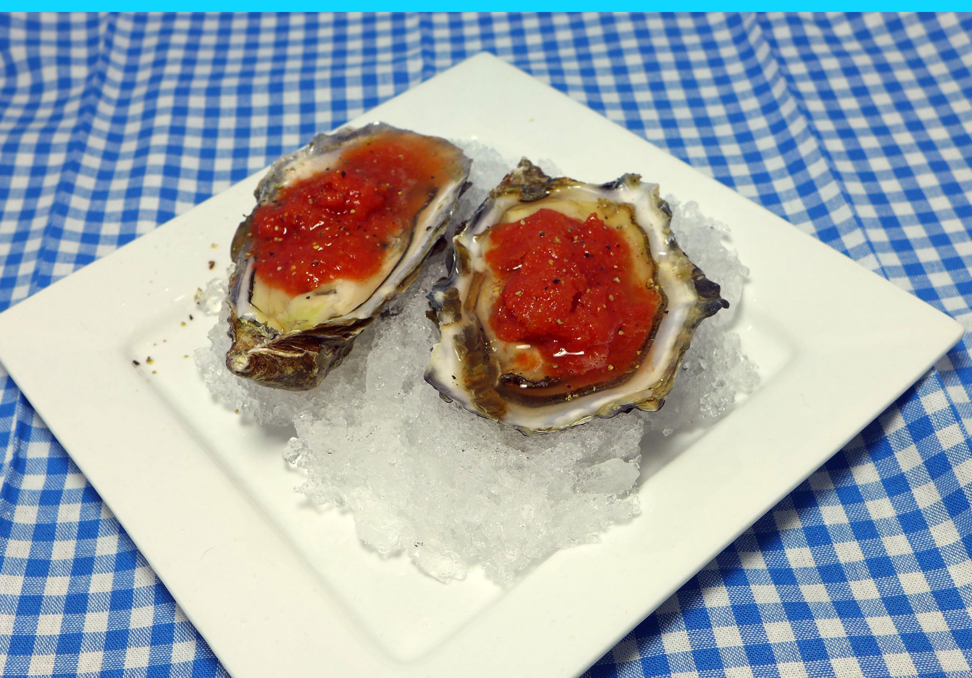 Recipe: Bloody Mary Granita Oysters