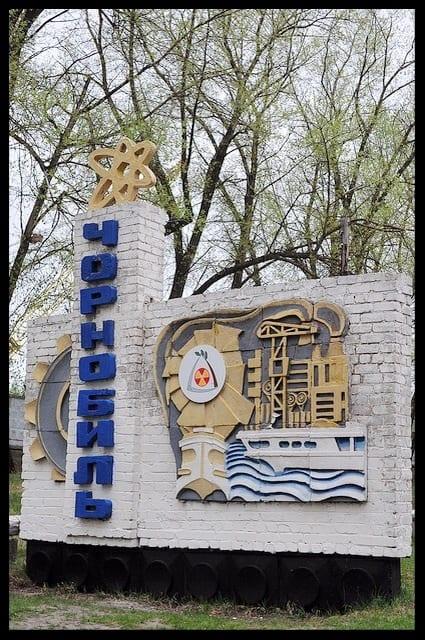chernobyl village sign