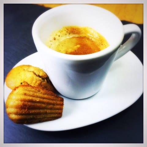 coffee and madeleines rose honey matcha madeleines french glasgow foodie explorers recipe