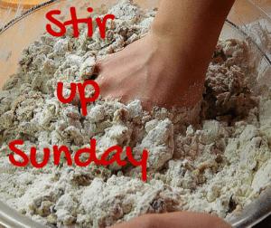 stir up sunday christmas pudding baking cooking advent