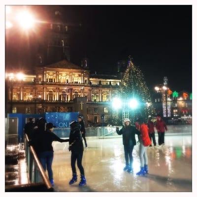 Glasgow loves christmas ice skating market