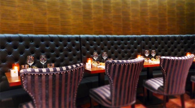 Dine with Stuart Muir - seating