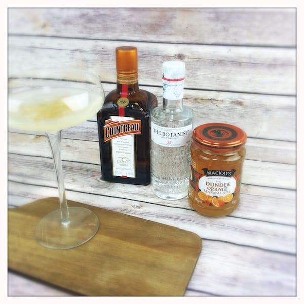 breakfast martini mackays jam cointreau botanist gin