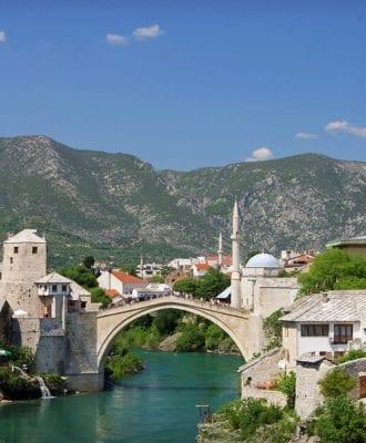 Start most Mostar Bosnia and Herzegovina Yugoslavia