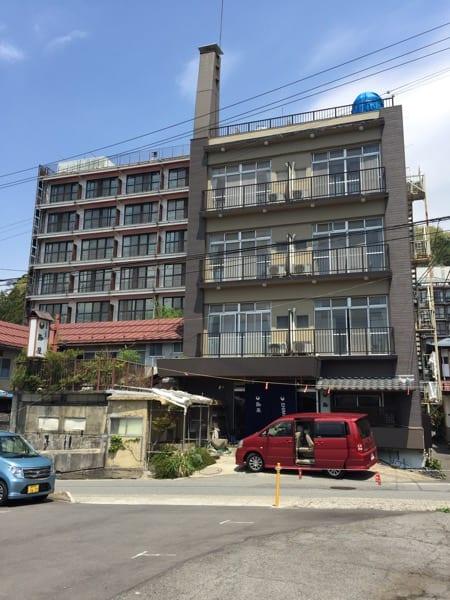 Outside Yudanaka Shimaya ryokan hotel Japan