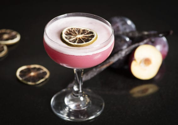 Edinburgh gin plum cocktail