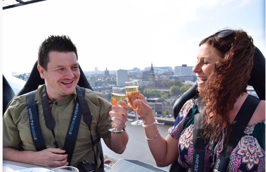 Sky high dining in Glasgow