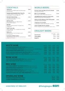 Tasty by Tony Singh January menu Page 2