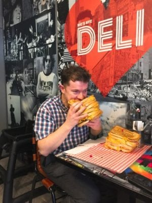 Nics NYC deli glasgow grahams the family deli cheese grilled sandwich day