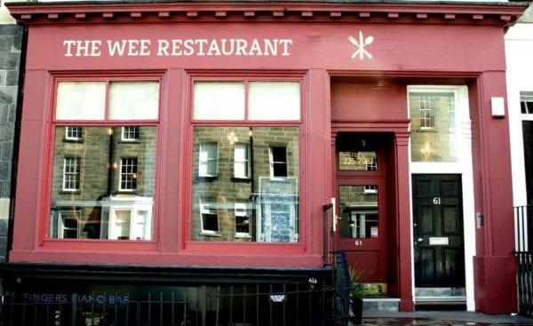 The wee restaurant Edinburgh special offer
