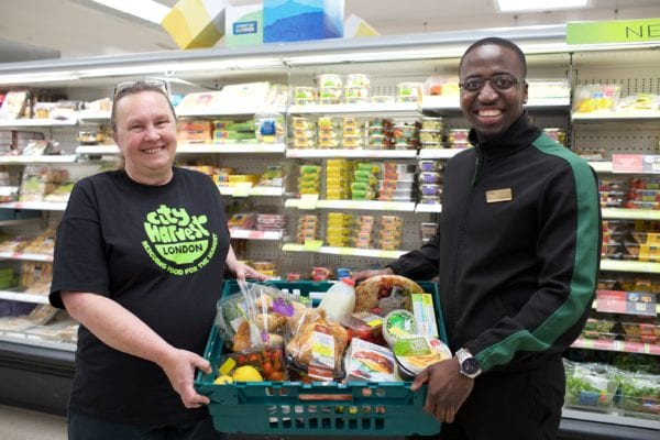 Marks and Spencer charity surplus food