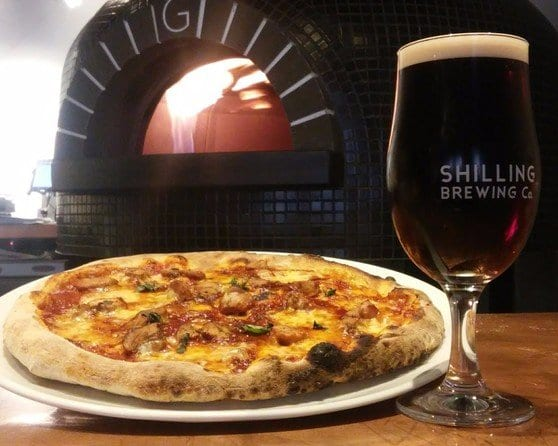 Shilling brewing co pizza