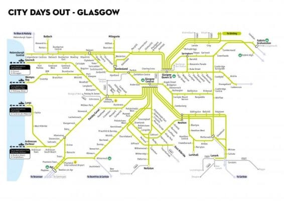 Scotrail glasgow Days Out Travel Pass