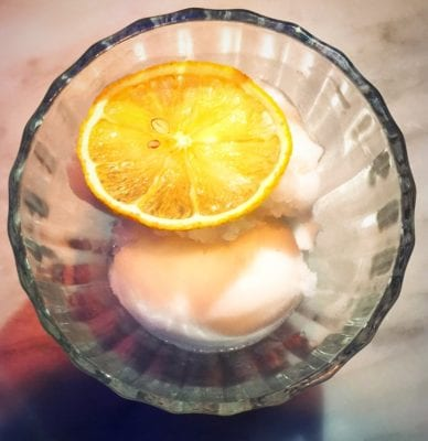 Lemon sorbet Alston Bar and beef glasgow dessert