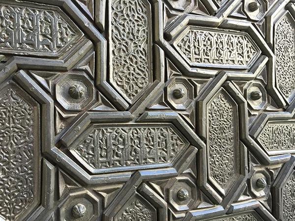 Ornate cathedral door, Seville