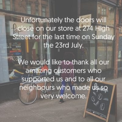 papercup high street to close glasgow