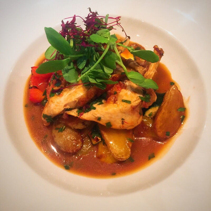 Number 10 hotel Pan-seared breast of chicken