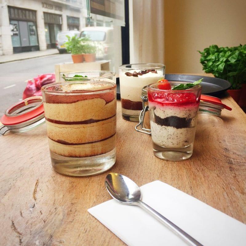 Vapiano desserts selection