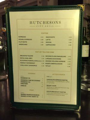 hutchesons city grill glasgow dessert menu drinks