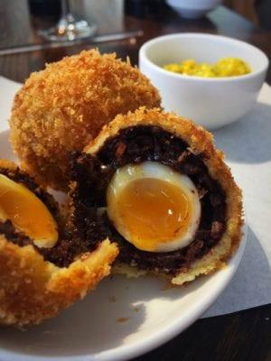 Scotch egg The perfectionists cafe Heathrow Heston