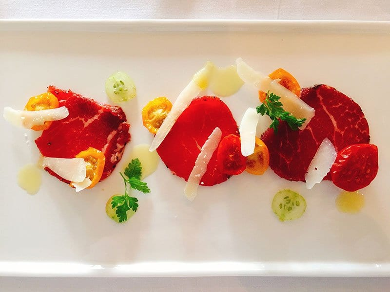 Cater at Old Town Chambers by Barry Bryson - borders beef carpaccio