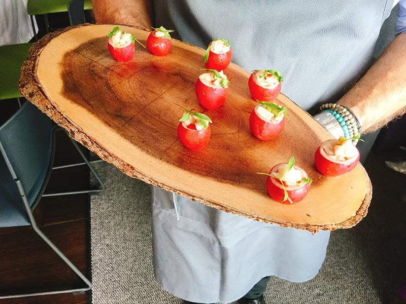 Cater at Old Town Chambers by Barry Bryson - radish canape