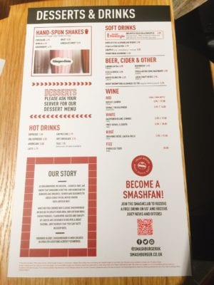 Menu smashburger Glasgow new burger opening