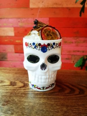 Las iguanas day of the dead cocktail