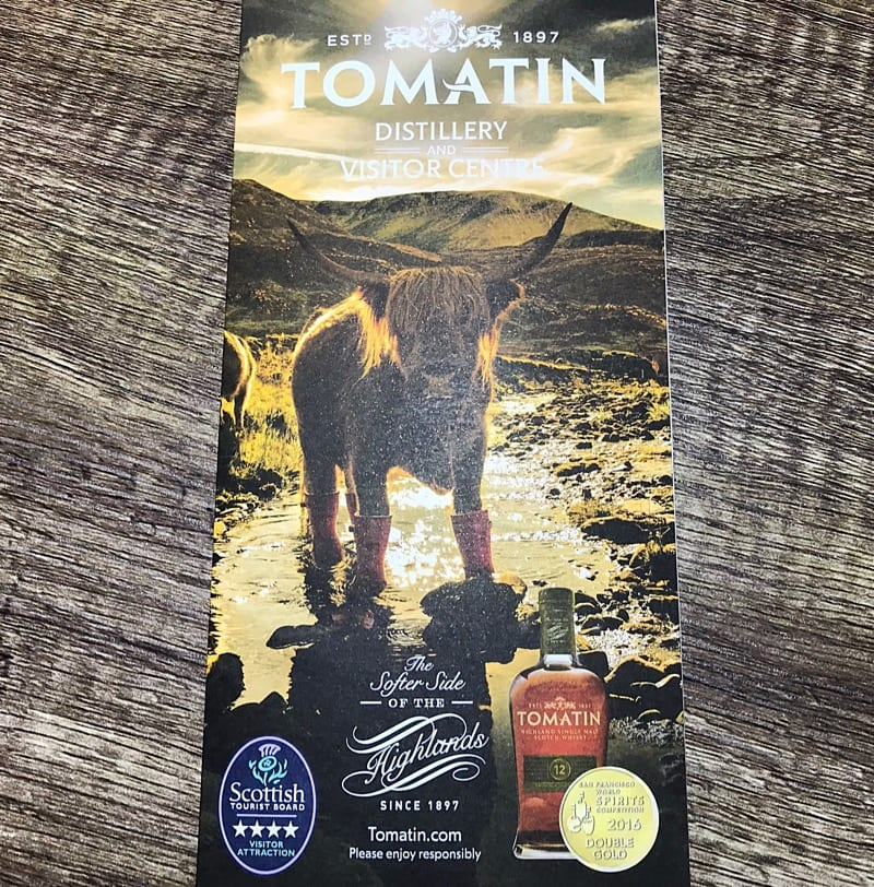 Tomatin distillery Christmas countdown