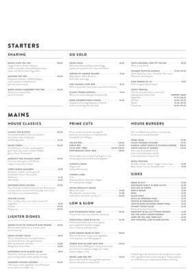 the mill house stewarton menu