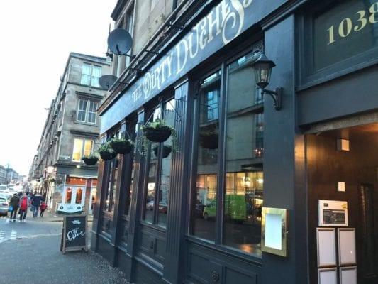 The dirty duchess Argyle street glasgow bar