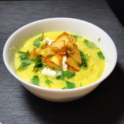 Spiced parsnip and apple soup recipe