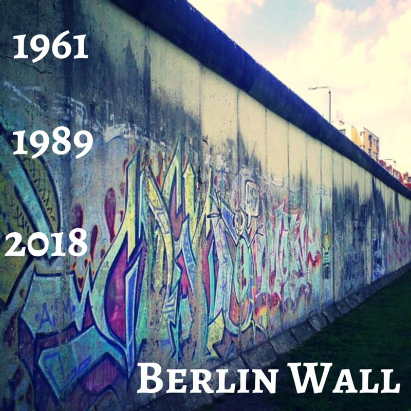 Berlin Wall now gone for as long as it stood
